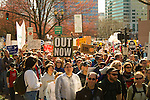 People marching in a peace rally war protest