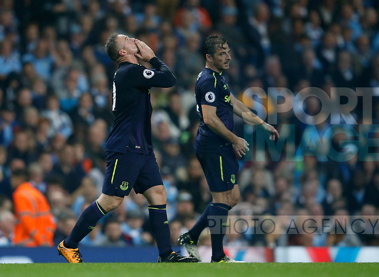 Wayne Rooney of Everton celebrates his 200th goal during the Premier League match at the Eithad Stadium, Manchester. Picture date 21st August 2017. Picture credit should read: Simon Bellis/Sportimage