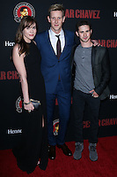 "HOLLYWOOD, LOS ANGELES, CA, USA - MARCH 20: Christa B. Allen, Gabriel Mann, Connor Paolo at the Los Angeles Premiere Of Pantelion Films And Participant Media's ""Cesar Chavez"" held at TCL Chinese Theatre on March 20, 2014 in Hollywood, Los Angeles, California, United States. (Photo by David Acosta/Celebrity Monitor)"
