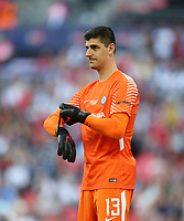 Chelsea's Thibaut Courtois<br /> <br /> Photographer Rob Newell/CameraSport<br /> <br /> Emirates FA Cup Final - Chelsea v Manchester United - Saturday 19th May 2018 - Wembley Stadium - London<br />  <br /> World Copyright &copy; 2018 CameraSport. All rights reserved. 43 Linden Ave. Countesthorpe. Leicester. England. LE8 5PG - Tel: +44 (0) 116 277 4147 - admin@camerasport.com - www.camerasport.com