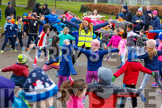 Ready to run as they get underway in the Junior Parkrun in the Tralee Town park on Sunday morning last.