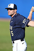 Pittsburgh Panthers Kyle Cheesebrough #5 during a game vs. the Central Michigan Chippewas at Chain of Lakes Park in Winter Haven, Florida;  March 11, 2011.  Pittsburgh defeated Central Michigan 19-2.  Photo By Mike Janes/Four Seam Images