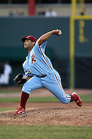 May 29th 2008:  Fabio Castro of the Reading Phillies, Class-AA affiliate of the Philadelphia Phillies, during a game at Jerry Uht Park in Erie, PA.  Photo by:  Mike Janes/Four Seam Images