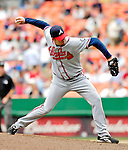17 May 2007: Atlanta Braves pitcher Peter Moylan on the mound against the Washington Nationals at RFK Stadium in Washington, DC. The Nationals defeated the Braves 4-3 to take the four-game series three games to one...Mandatory Photo Credit: Ed Wolfstein Photo
