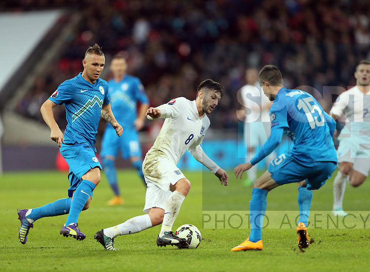 England's Adam Lallana in action<br /> <br /> - International European Qualifier - England vs Slovenia- Wembley Stadium - London - England - 15th November 2014  - Picture David Klein/Sportimage