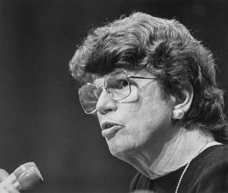 Close-up of Janet Reno. 1994 (Photo by Maureen Keating/CQ Roll Call via Getty Images)