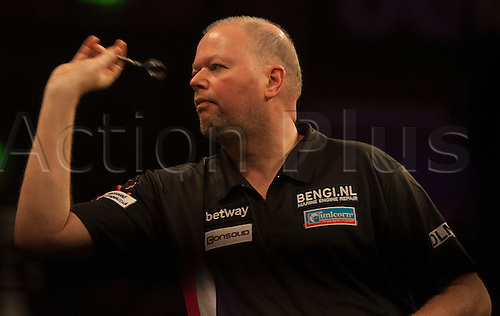 07.04.2016. The Sheffield Arena, Sheffield, England. Betway PDC Premier League Darts. Night 10.  Raymond van Barneveld [NED] in action during his match against James Wade [ENG].