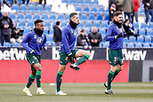 10th February 2019,  Estadio Municipal de Butarque, Leganes, Spain; La Liga football, Leganes versus Real Betis; Zouhair Feddal (Betis)  Pre-match warm-up