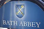 Bath Abbey Sign, England, UK