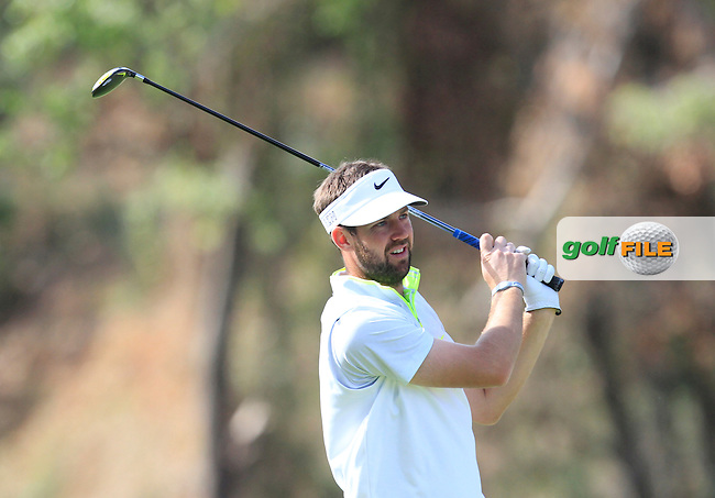 Scott Jamieson (SCO) on the 7th fairway during Round 3 of the Open de Espana  in Club de Golf el Prat, Barcelona on Saturday 16th May 2015.<br /> Picture:  Thos Caffrey / www.golffile.ie