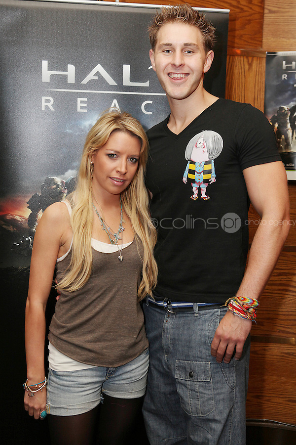 NO REPRO FEE. 14/9/2010. launch of Halo: Reach. Pictured at the Odeon Dublin for the launch of Halo: Reach are Jenni Murphy and Anthony Kelly. Halo: Reach tells the tragic and heroic story of Noble Team, a group of Spartans, who through great sacrifice and courage, saved countless lives in the face of impossible odds. Picture James Horan/Collins Photos