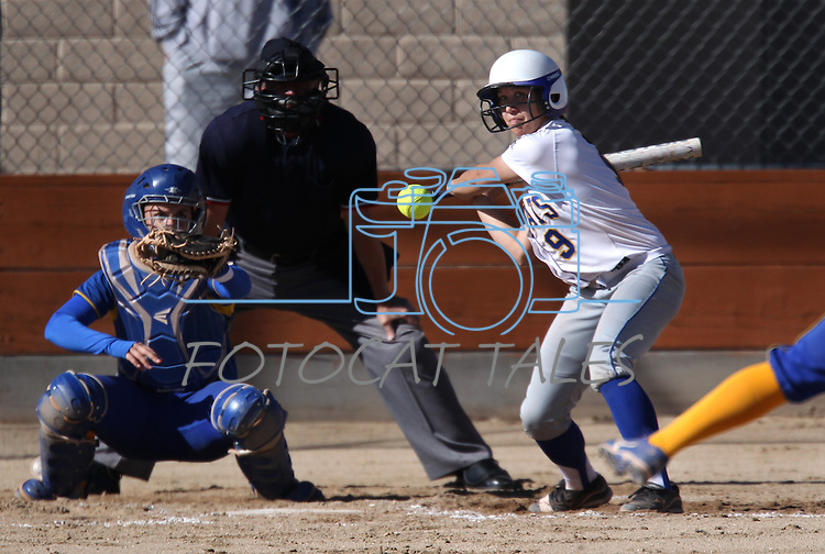 Wildcat Heather Septon takes an at-bat in a college softball game against Salt Lake Community College on Friday, Feb. 15, 2013, in Carson City, Nev. SLCC won the opener 4-2..Photo by Cathleen Allison