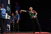 10th January 2018, Brisbane Royal International Convention Centre, Brisbane, Australia; Pro Darts Showdown Series; Devon Peterson (RSA) in action during his match against Raymond O'Donnel (AUS)