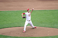 Kyle Hart delivers a pitch during the Hoosiers' 5-3 loss to Maryland in the opening game of the Big Ten Tournament at TD Ameritrade Park in Omaha, Neb. on May 25, 2016. (Photo by Michelle Bishop)