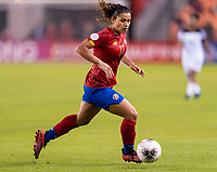 HOUSTON, TX - JANUARY 28: Raquel Rodriguez #11 of Costa Rica dribbles during a game between Costa Rica and Panama at BBVA Stadium on January 28, 2020 in Houston, Texas.