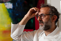 3 Michelin star chef, Massimo Bottura at Osteria Francescana, Modena, Emilia Romagna, Italy
