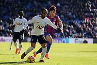 Lucas of Tottenham Hotspur and Lee Chung-Yong of Crystal Palace during Crystal Palace vs Tottenham Hotspur, Premier League Football at Selhurst Park on 25th February 2018