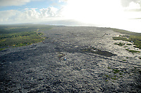 Paradise Helicopters doors off flight of the volcano, 1990-91 lava flows, hwy 130, Kalapana, Big Island of Hawaii