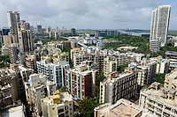 INDIA, Mumbai, skyscraper in suburb Goregoan, Inorbit shopping mall and callcenter building