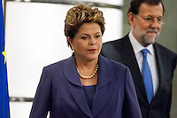 Dilma Rousseff and Mariano Rajoy press conference at Moncloa