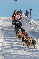 Peter Kaiser on Cordova St. hill during the Anchorage start day of Iditarod 2018 on Cordova St. hill during the Anchorage start day of Iditarod 2019
