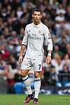 Cristiano Ronaldo of Real Madrid looks on during the 2016-17 UEFA Champions League match between Real Madrid and Legia Warszawa at the Santiago Bernabeu Stadium on 18 October 2016 in Madrid, Spain. Photo by Diego Gonzalez Souto / Power Sport Images
