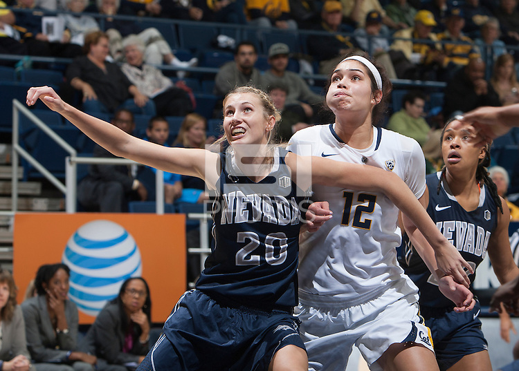 Berkeley, Calif. - November 18, 2014: California defeated Nevada 76-54 in a NCAA women's basketball game at Haas Pavilion.