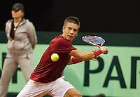 September 12, 2014, Netherlands, Amsterdam, Ziggo Dome, Davis Cup Netherlands-Croatia, Borna Coric (CRO) <br /> Photo: Tennisimages/Henk Koster