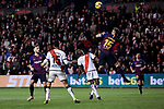Rayo Vallecano's Alegria and FC Barcelona's Clement Lenglet  during La Liga match between Rayo Vallecano and FC Barcelona at Vallecas Stadium in Madrid, Spain. November 03, 2018. (ALTERPHOTOS/A. Perez Meca)