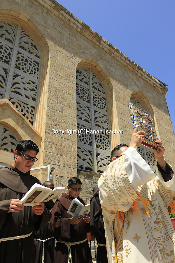 Israel, Jerusalem, Feast of the Visitation at the Church of the Visitation in Ein Karem