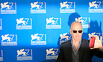 US actor Michael Keaton at a photocall of the 71st Venice Film Festival in Venice, on August 27, 2014.
