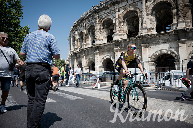 Steven Kruijswijk (NED/Jumbo-Visma) at the race start in front of the Arena in Nîmes<br /> <br /> Stage 16: Nîmes to Nîmes(177km)<br /> 106th Tour de France 2019 (2.UWT)<br /> <br /> ©kramon