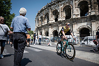 Steven Kruijswijk (NED/Jumbo-Visma) at the race start in front of the Arena in Nîmes<br /> <br /> Stage 16: Nîmes to Nîmes (177km)<br /> 106th Tour de France 2019 (2.UWT)<br /> <br /> ©kramon