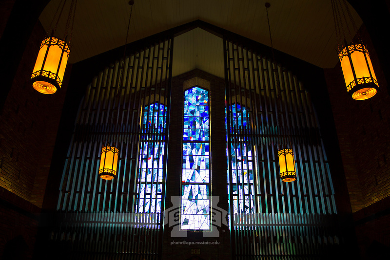 Chapel of Memories interior. (photo by Taylor Howell / © Mississippi State University)