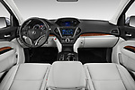 Stock photo of straight dashboard view of a 2019 Acura MDX Standard 5 Door SUV