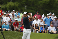 Jason Day (AUS) tees off on the 4th hole during the final round of the 100th PGA Championship at Bellerive Country Club, St. Louis, Missouri, USA. 8/12/2018.<br /> Picture: Golffile.ie   Brian Spurlock<br /> <br /> All photo usage must carry mandatory copyright credit (© Golffile   Brian Spurlock)