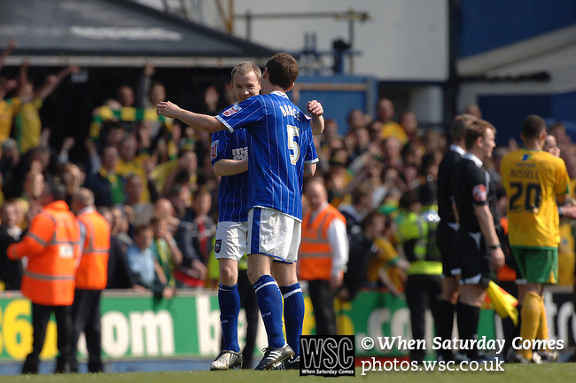 Ipswich Town 3 Norwich City 2, 19/04/2009. Portman Road, Ipswich. Championship. Photo by Simon Gill.