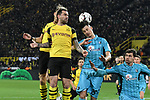 01.12.2018, Signal Iduna Park, Dortmund, GER, DFL, BL, Borussia Dortmund vs SC Freiburg, DFL regulations prohibit any use of photographs as image sequences and/or quasi-video<br /> <br /> im Bild Strafraumszene . Torchance von Paco Alcacer (#9, Borussia Dortmund) Maximilian Philipp (#20, Borussia Dortmund) Robin Koch (#25, SC Freiburg) (re)<br /> <br /> Foto © nordphoto/Mauelshagen