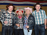 Paul, Joanne, Brigid and Brian Russell at the Hooley on the Hill barn Dance on the Hill of Rath. Photo:Colin Bell/pressphotos.ie