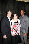 Guiding Light's Frank Dicopoulos & Lawrence Saint Victor (now Bold and The Beautiful) pose with KDKA Karri Rickard at CBS Radio Station in Pittsburgh, PA as they attend Bridal Showcase and Women's Expo on March 22, 2015 at the David Lawrence Convention Center. The actors were there to benefit Young Women's Breast Cancer Awareness Foundation. On Friday preceeding they appeared at Chicos at the Galleria Mall in Mt. Lebanon, Pa. The actors signed, posed with brides from Fashions by Exquisite Bride and Sorelle and more. (Photos by Sue Coflin)