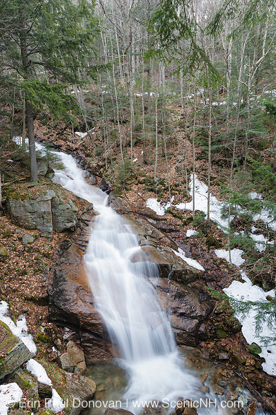 Liberty Gorge Cascade in Lincoln, New Hampshire USA during the spring months. This waterfall is located on Cascade Brook in the Flume Gorge Scenic Area of Franconia Notch State Park.