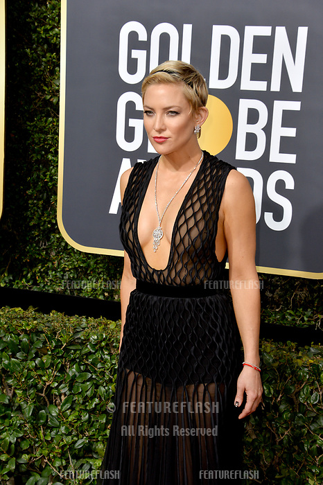 Kate Hudson at the 75th Annual Golden Globe Awards at the Beverly Hilton Hotel, Beverly Hills, USA 07 Jan. 2018<br /> Picture: Paul Smith/Featureflash/SilverHub 0208 004 5359 sales@silverhubmedia.com