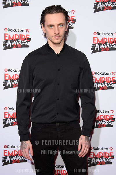 Sergei Polunin arriving for the Empire Awards 2018 at the Roundhouse, Camden, London, UK. <br /> 18 March  2018<br /> Picture: Steve Vas/Featureflash/SilverHub 0208 004 5359 sales@silverhubmedia.com