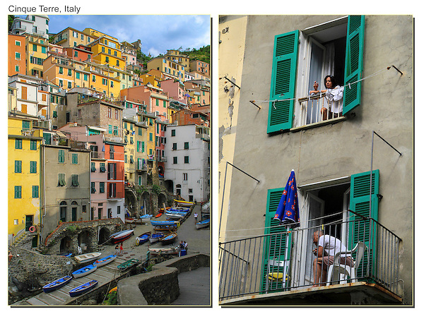 Locals, Monterosa, Cinque Terre, Italy.