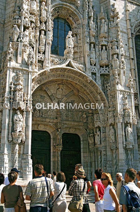 Mosteiro dos Jerônimos, estilo gótico manuelino, Lisboa. Portugal. 2005. Foto de Rogério Reis.