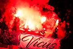 16.12.2017, Signal Iduna Park, Dortmund, GER, 1.FBL, Borussia Dortmund vs TSG 1899 Hoffenheim, <br /> <br /> im Bild | picture shows<br /> Fans der TSG z&uuml;nden Bengalos | Pyro im G&auml;steblock, <br /> <br /> Foto &copy; nordphoto / Rauch