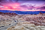 Sunrise in Death Valley over Zabriskie Point
