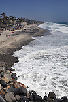 The Beach as seen from the Oceanside Pier, on visit to Oceanside, CA, on Wednesday, April 27, 2016. Photo by Jim Peppler. Copyright Jim Peppler  2016.
