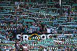 Stockholm 2013-06-23 Fotboll Superettan , Hammarby IF - &Auml;ngelholms FF :  <br /> Hammarby Bajen supportrar halsdukshav p&aring; Norra l&auml;ktaren inf&ouml;r den sista matchen p&aring; S&ouml;derstadion <br /> (Foto: Kenta J&ouml;nsson) Nyckelord:  supporter fans publik supporters