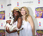 """Nikki M. James (The Book of Mormon) and Victoria Clark (Sister Act) attend Broadway Barks Lucky 13th Annual Adopt-a-thon - A """"Pawpular"""" Star-studded dog and cat adopt-a-thon on July 9, 2011 in Shubert Alley, New York City, New York with Bernadette Peters and Mary Tyler Moore as hosts.  (Photo by Sue Coflin/Max Photos)"""